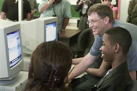 一个时代的结束:微软盖茨人生掠影(组图)
